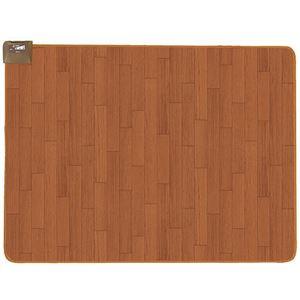 広電 フローリングタイプカーペット/ホットカーペット 【1.5畳】 長方形 木目調