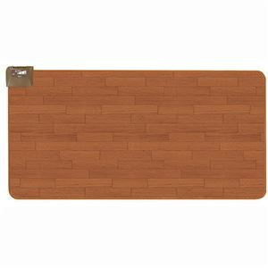 広電 フローリングタイプカーペット/ホットカーペット 【1畳】 長方形 木目調