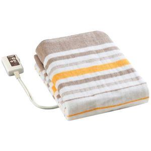 広電 電気毛布/防寒具 【敷き毛布】 140cm×80cm 化繊 自動温度調節