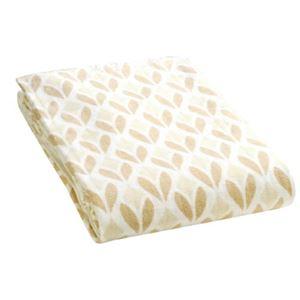 広電 電気毛布/防寒具 【敷き毛布】 140cm×80cm 綿 室温センサー 自動温度調節