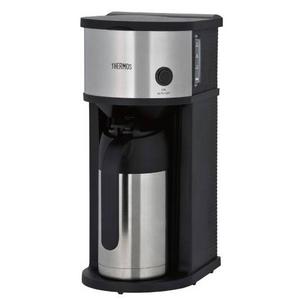 THERMOS 真空断熱ポット コーヒーメーカー0.63L ECF-700-SBK ステンレスブラック - 拡大画像