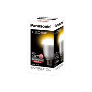 Panasonic(パナソニック) LED電球 EVERLEDS(エバーレッズ) 7.6W 調光器対応 LDA8L-A1/D (電球色相当) - 拡大画像