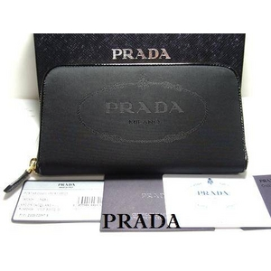 PRADA(プラダ) 1M0506 NYLON JACQUARD NERO 長財布 - 拡大画像