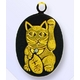 熊本伝統工芸 肥後象嵌 光助 携帯ストラップ(招き猫) - 縮小画像1