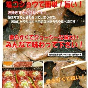 肉屋のプロがオススメ☆大評判!牛タンスライス500g!レモン果汁プレゼント付き! - 拡大画像