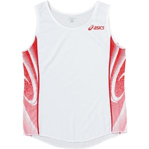 ASICS(アシックス) W'Sランニングシャツ ホワイト×レッド XT2027 L