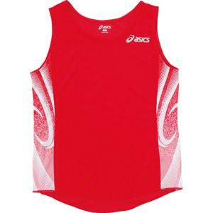 ASICS(アシックス) W'Sランニングシャツ レッド XT2027 O