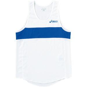 ASICS(アシックス) Jr.メンズランニングトップ ホワイト×ブルー XT3006 140