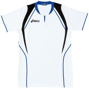 ASICS(アシックス) ゲームシャツ(半袖) ホワイト×ロイヤルブルー XW1291 O