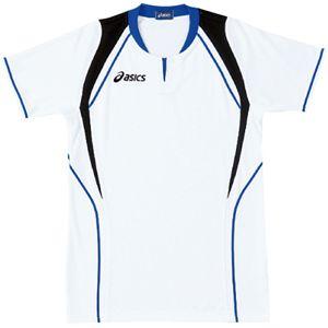ASICS(アシックス) ゲームシャツ(半袖) ホワイト×ロイヤルブルー XW1291 S
