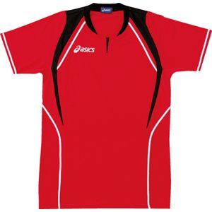 ASICS(アシックス) ゲームシャツ(半袖) レッド×ブラック XW1291 M