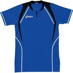 ASICS(アシックス) ゲームシャツ(半袖) ロイヤルブルー×ブラック XW1291 S