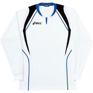 ASICS(アシックス) ゲームシャツ(長袖) ホワイト×ロイヤルブルー XW1292 M
