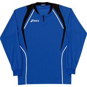 ASICS(アシックス) ゲームシャツ(長袖) ロイヤルブルー×ブラック XW1292 M
