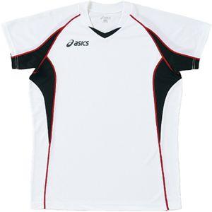 ASICS(アシックス) ゲームシャツHS ホワイトXブラック XW1295 L
