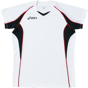 ASICS(アシックス) ゲームシャツHS ホワイトXブラック XW1295 XO