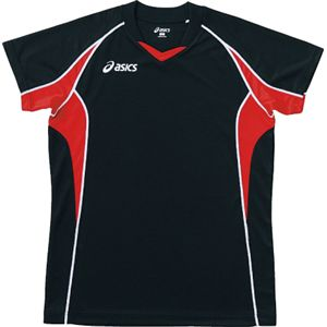 ASICS(アシックス) ゲームシャツHS ブラックXVレッド XW1295 L