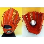 ミズノ グローバルエリート 硬式グローブ 外野手用 右投げ 15サイズ スプレンディッドオレンジ − 36,000円