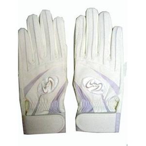 高校野球対応 バッティング手袋 両手用 ウォッシャブル ホワイト Lサイズ(25cm)Zeems(ジームス)