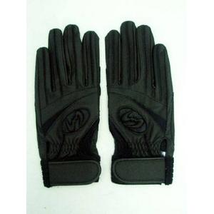 高校野球対応 バッティング手袋 両手用 ウォッシャブル ブラック Mサイズ(24cm)Zeems(ジームス)