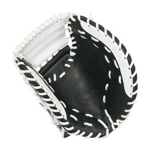 ソフトボールミット(捕手用) リーグスター LCS-1370 ブラック×ホワイト RG