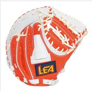 軟式ミット(一塁手用) リーグスター LFN-1070 レッドオレンジ×ホワイト RG
