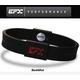 EFX(イーエフエックス)  パフォーマンス リストバンド スポーツブレスレット ブラック×レッド[正規品]4001567b-232 Lサイズ 写真1