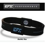 EFX(イーエフエックス) パフォーマンス リストバンド スポーツブレスレット ブラック×ライトブルー[正規品]4001567b-205 Lサイズ