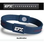 EFX(イーエフエックス) パフォーマンス リストバンド スポーツブレスレット ブルー×ホワイト×レッド[正規品]4001567b-240 Mサイズ
