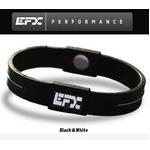 EFX(イーエフエックス) パフォーマンス リストバンド スポーツブレスレット ブラック×ホワイト[正規品]4001567b-206 Lサイズ