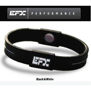 EFX(イーエフエックス) パフォーマンス リストバンド スポーツブレスレット ブラック×ホワイト[正規品]4001567b-206 Mサイズ