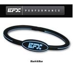 EFX(イーエフエックス) パフォーマンス リストバンド オーバルブレスレット ブラック×ブルー[正規品]4001568-205 Mサイズ