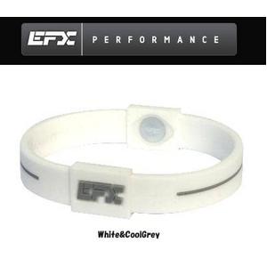 EFX(イーエフエックス) パフォーマンス リストバンド スポーツブレスレット ホワイト×グレー[正規品]4001567b-219 Lサイズ