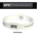 EFX(イーエフエックス) パフォーマンス リストバンド スポーツブレスレット ホワイト×グレー[正規品]4001567b-219 Mサイズ