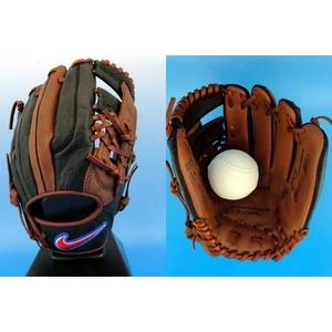 少年軟式グローブ ナイキ『SIGNATURE MODEL 』 内野手用 岩村モデル bf1306-200 チョコレート×ブラック 右投げ用