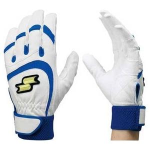 バッティンググローブ(一般用手袋) 『エルゴグリップ』 SSK(エスエスケイ)【両手用】 22-23 (1060)ホワイト×ブルー