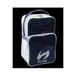 シューズケース兼ミニセカンドバッグ ネイビー×ホワイトZeems(ジームス)ZEB705