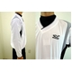 MIZUNO(ミズノ) ジュニア用 Vネックジャケット 52wj-713 ホワイト×ブラック(01) 140サイズ - 縮小画像2