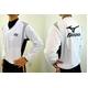 MIZUNO(ミズノ) ジュニア用 Vネックジャケット 52wj-713 ホワイト×ブラック(01) 150サイズ - 縮小画像1