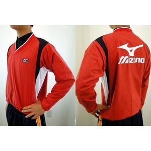 MIZUNO(ミズノ) ジュニア用 Vネックジャケット 52wj-713 レッド(62) 160サイズ - 拡大画像