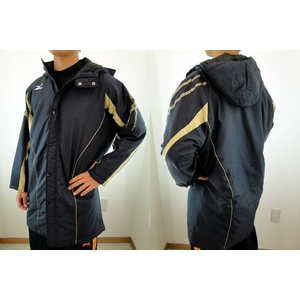 MIZUNO(ミズノ) ジュニア用 冬の防寒に必須! ロングコート ネイビー a35jb-95014 ネイビー(14) 150サイズ - 拡大画像