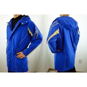 MIZUNO(ミズノ) ジュニア用 冬の防寒に必須! ロングコート ブルー(22) 150サイズ - 拡大画像