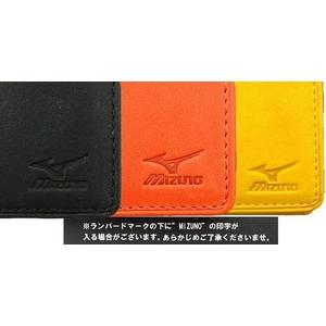 定期いれ MIZUNO(ミズノ) グラブの革で作った本格人気アイテム! 学生から社会人まで♪ 2zg91047 ブラック(09)