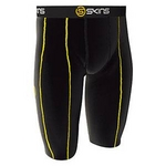 スポーツタイツ・スポーツインナーSKINS(スキンズ) 『 スポーツハーフタイツ black/yellow』 M