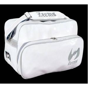 『ホワイトカラー』大人気!! Zeems(ジームス) ショルダーバッグ大型 (エナメル製) ホワイトの写真1
