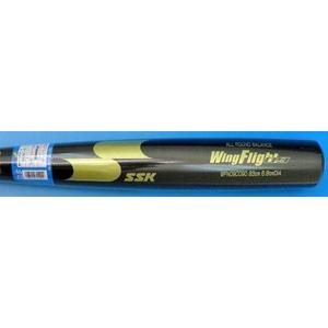 SSK(エスエスケイ) 一般軟式金属バット 『WingFlight09』 ブラック 83cm/700g平均