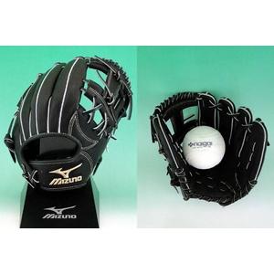 ソフトボール用グローブ 内野手用H1型 ブラック 右投用MIZUNO(ミズノ)グローバルエリート