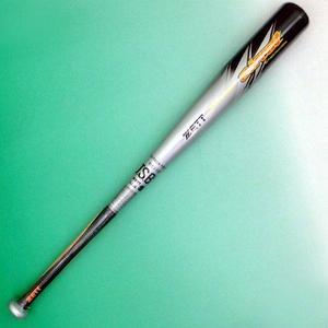 2010年モデル ZETT(ゼット) 少年軟式用バット 『AIRCUT』 シルバー×ブラック(1319) 80cm×530g平均