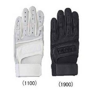 ETT(ゼット) 一般用バッティング手袋 左手用 高校野球対応 ホワイト(1100) Lサイズ