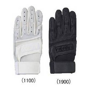 ZETT(ゼット) 一般用バッティング手袋 右手用(写真は左手ですが、商品は右手です。) 高校野球対応 ブラック(1900) Mサイズ